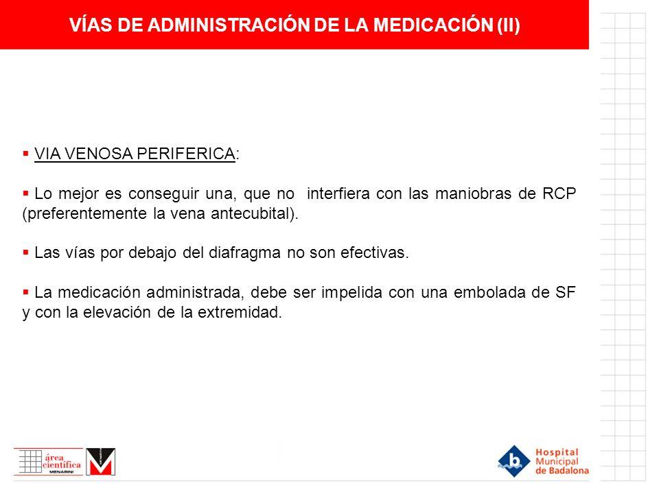 VÍAS DE ADMINISTRACIÓN DE LA MEDICACIÓN (II)