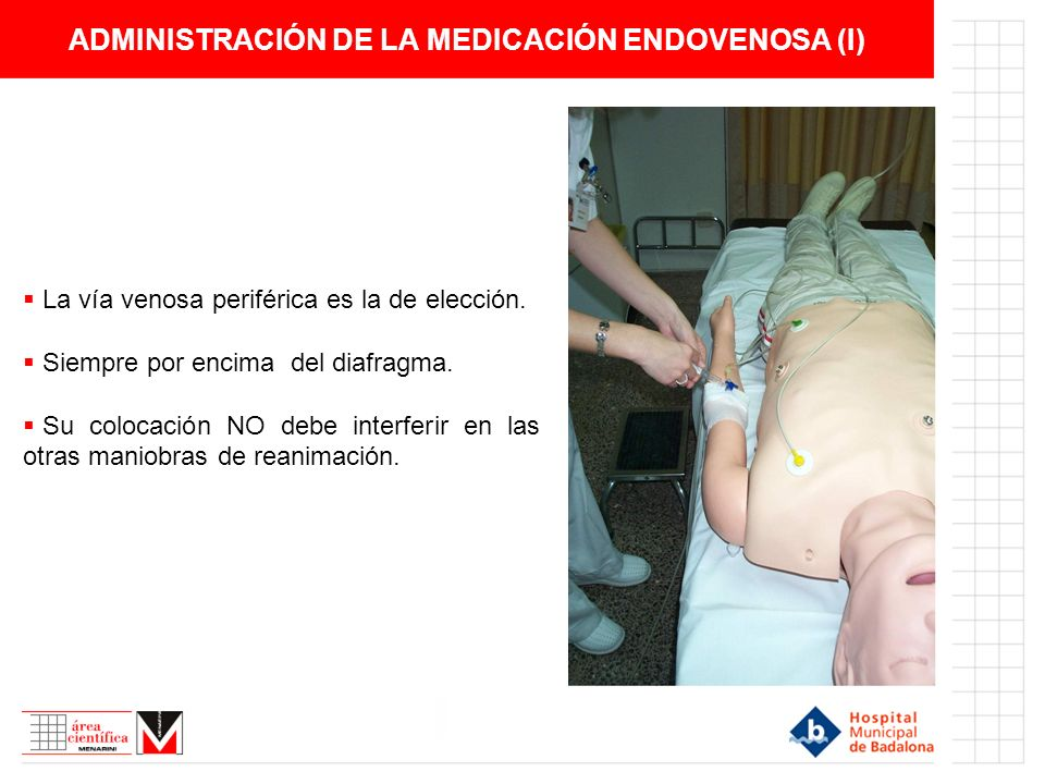 ADMINISTRACIÓN DE LA MEDICACIÓN ENDOVENOSA (I)
