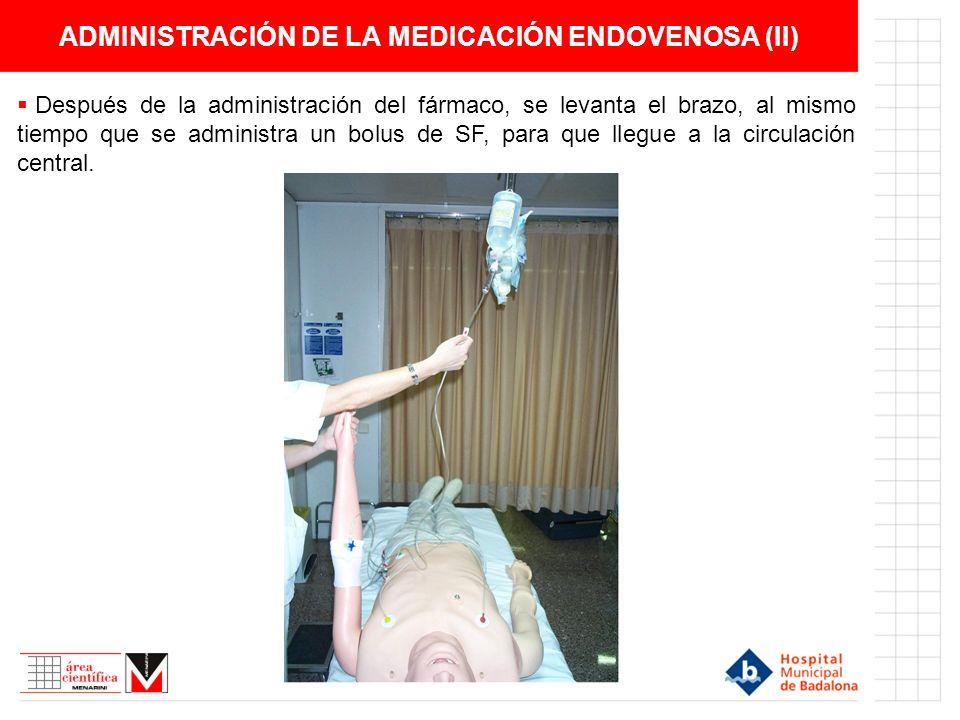 ADMINISTRACIÓN DE LA MEDICACIÓN ENDOVENOSA (II)