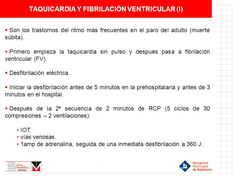 TAQUICARDIA Y FIBRILACIÓN VENTRICULAR (I)