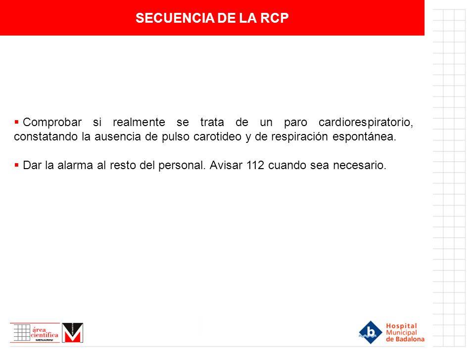 SECUENCIA DE LA RCP