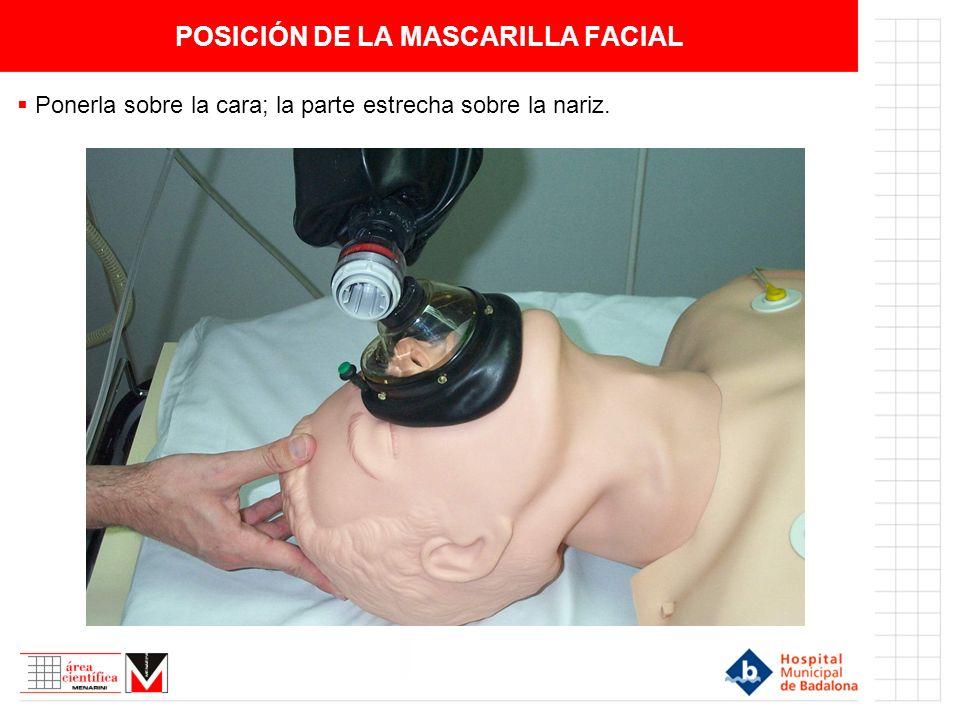POSICIÓN DE LA MASCARILLA FACIAL