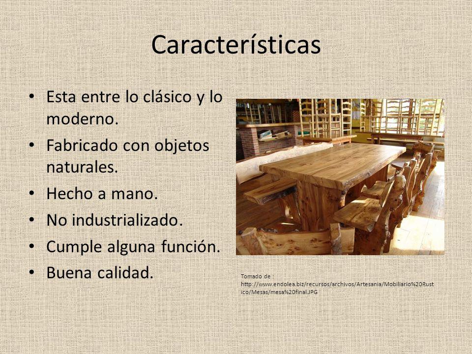 Características Esta entre lo clásico y lo moderno.