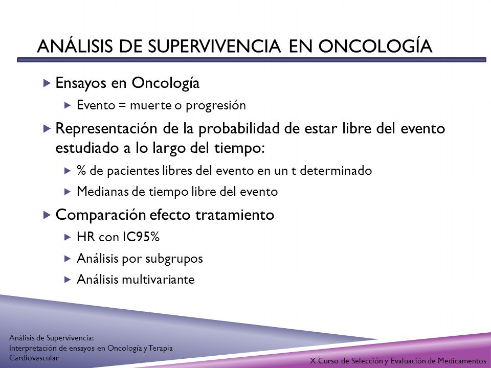 Análisis de supervivencia en oncología