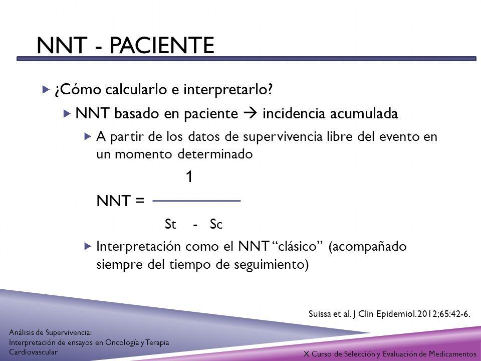 NNT - paciente ¿Cómo calcularlo e interpretarlo