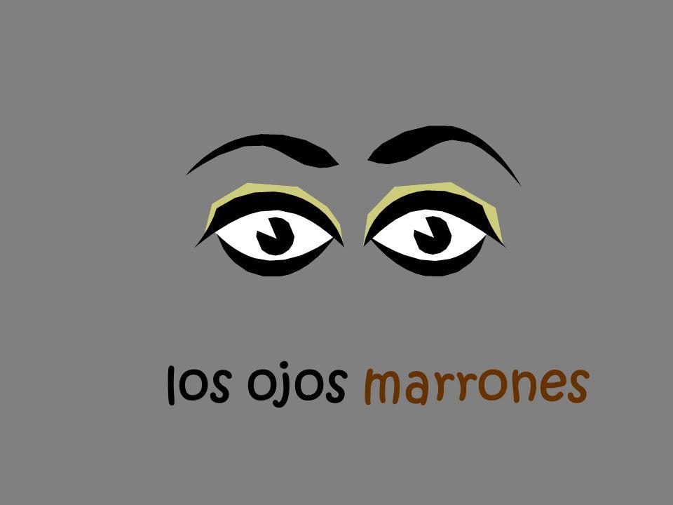 los ojos marrones