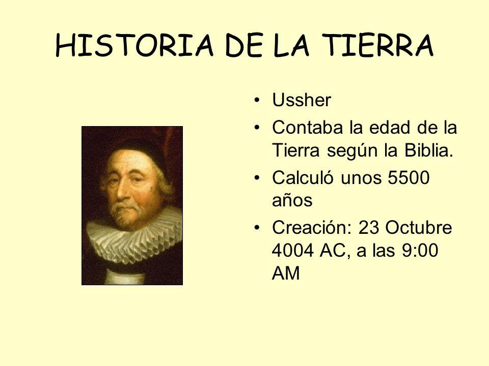 HISTORIA DE LA TIERRA Ussher