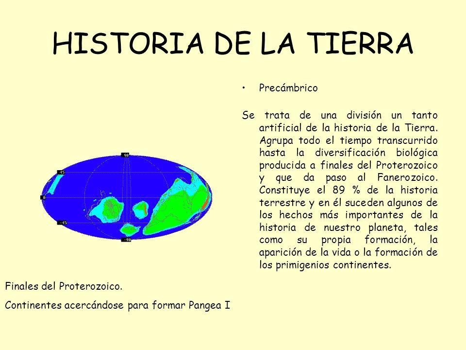 HISTORIA DE LA TIERRA Precámbrico