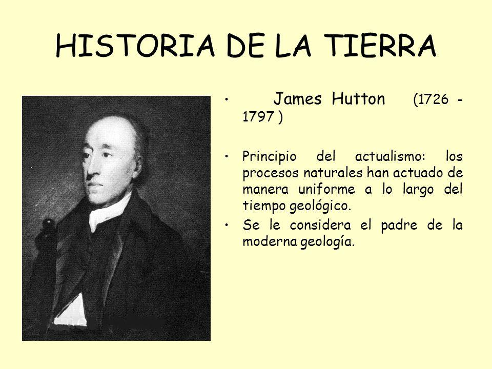 HISTORIA DE LA TIERRA James Hutton (1726 -1797 )