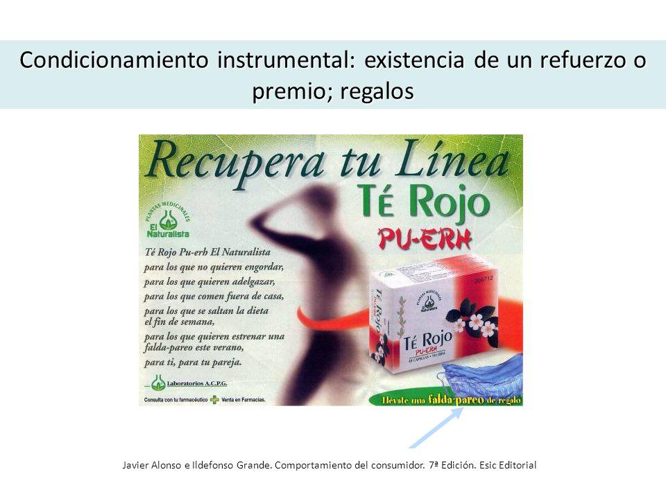 Condicionamiento instrumental: existencia de un refuerzo o premio; regalos