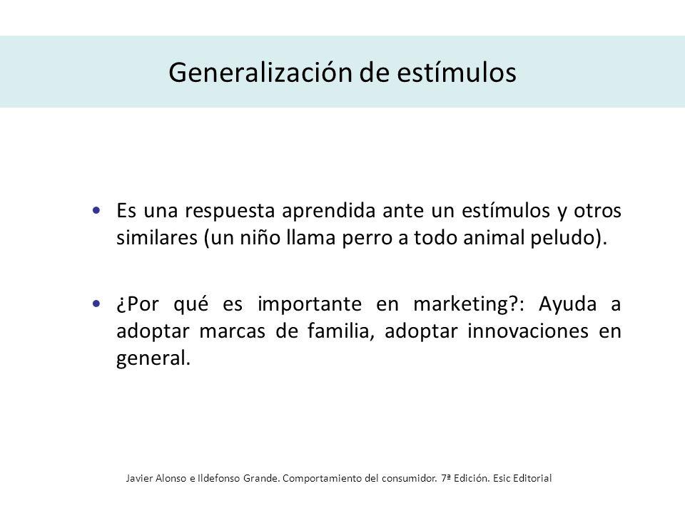 Generalización de estímulos