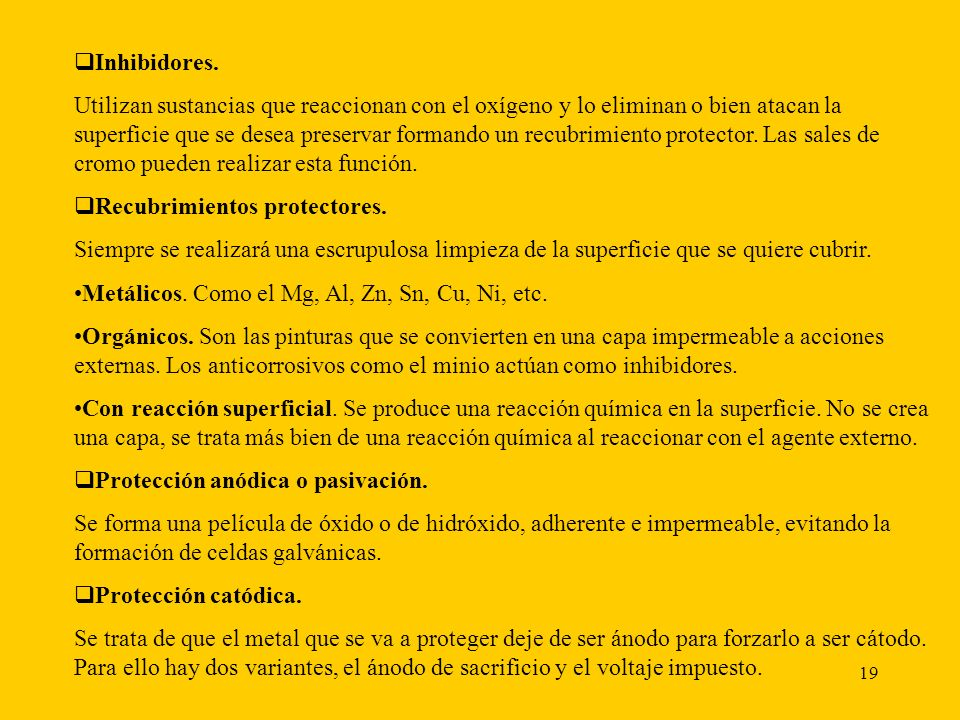 Inhibidores.