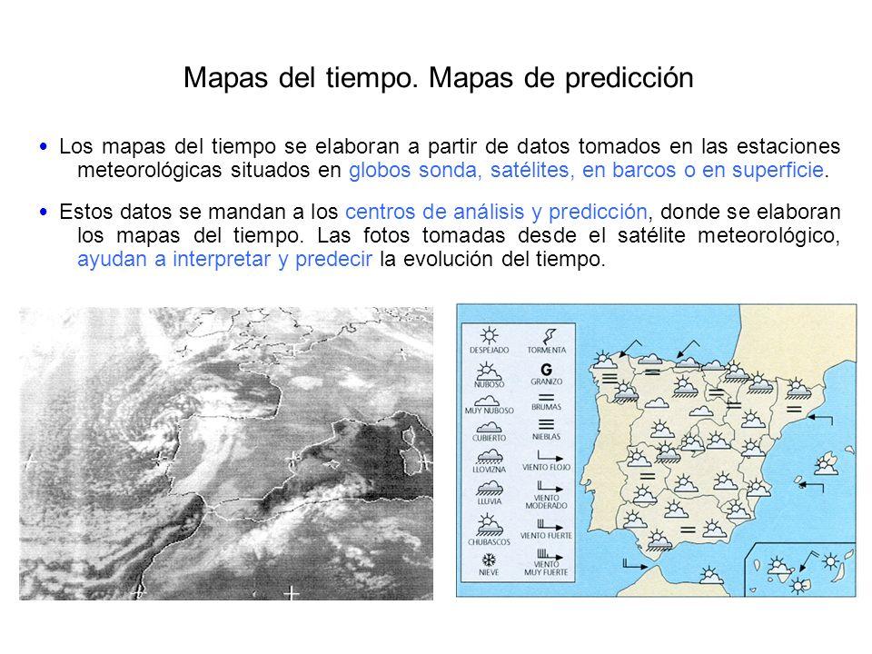 Mapas del tiempo. Mapas de predicción