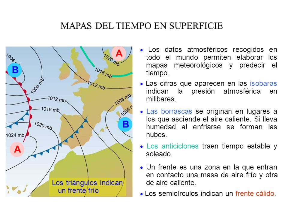 MAPAS DEL TIEMPO EN SUPERFICIE