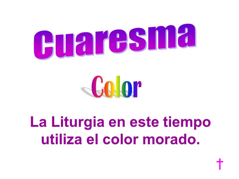 La Liturgia en este tiempo utiliza el color morado.