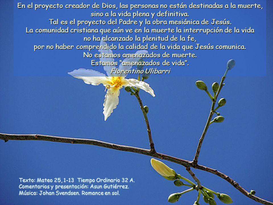 Tal es el proyecto del Padre y la obra mesiánica de Jesús.