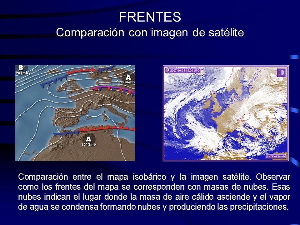 FRENTES Comparación con imagen de satélite