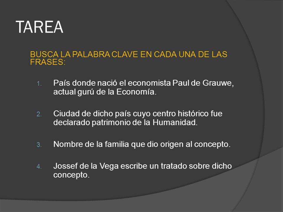 TAREA BUSCA LA PALABRA CLAVE EN CADA UNA DE LAS FRASES:
