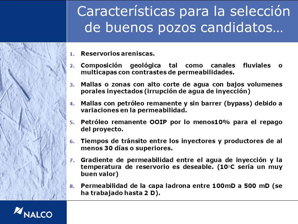 Características para la selección de buenos pozos candidatos…