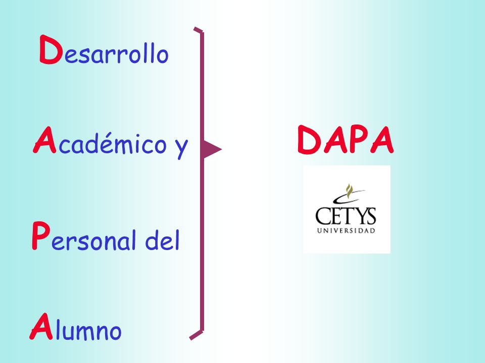 Desarrollo Académico y DAPA Personal del Alumno