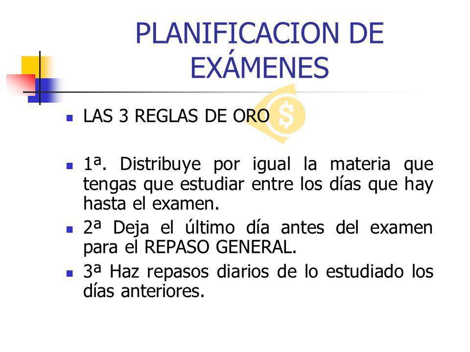 PLANIFICACION DE EXÁMENES