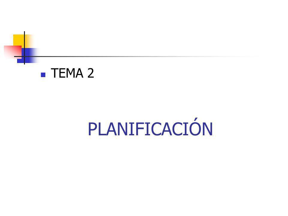 TEMA 2 PLANIFICACIÓN