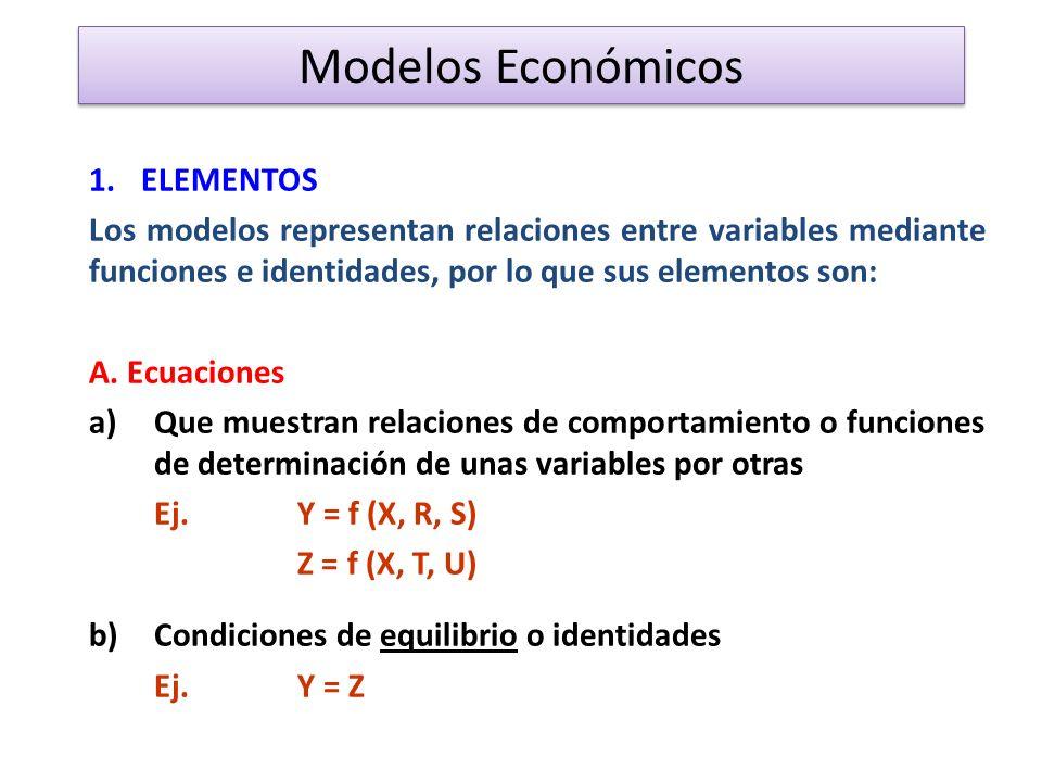 Modelos Económicos ELEMENTOS