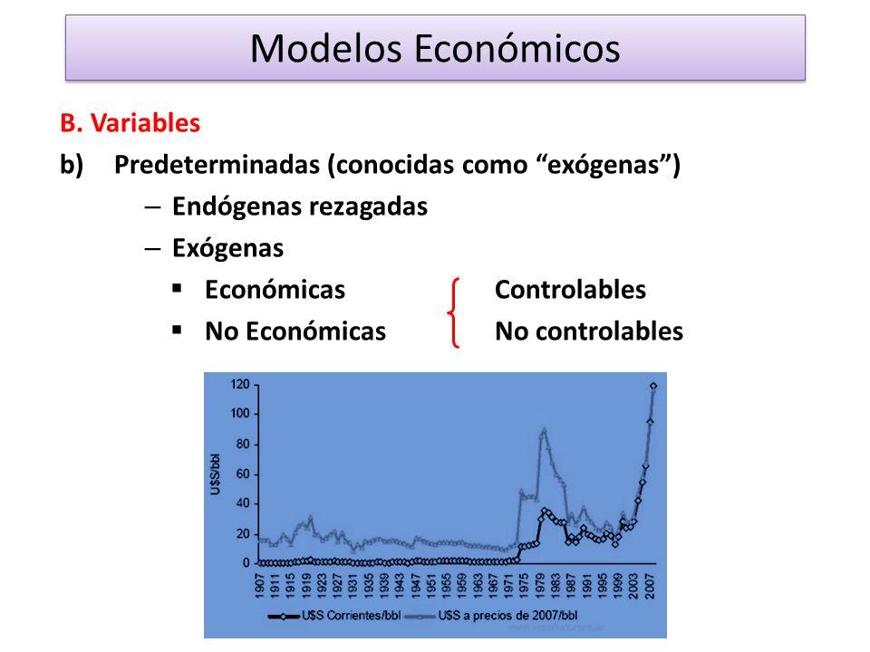 Modelos Económicos B. Variables