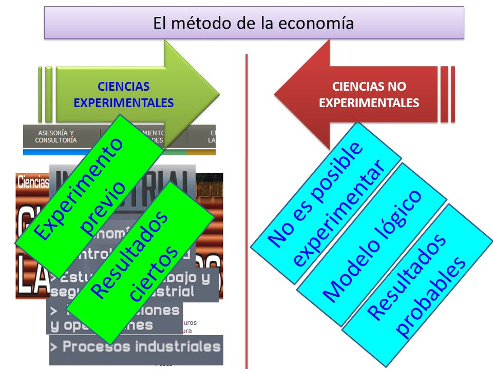 CIENCIAS EXPERIMENTALES CIENCIAS NO EXPERIMENTALES