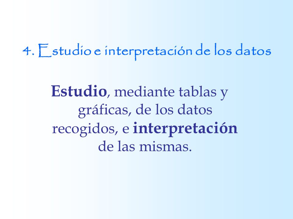 4. Estudio e interpretación de los datos