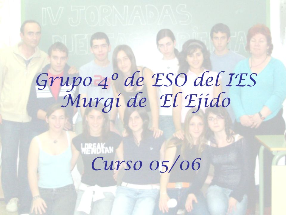 Grupo 4º de ESO del IES Murgi de El Ejido