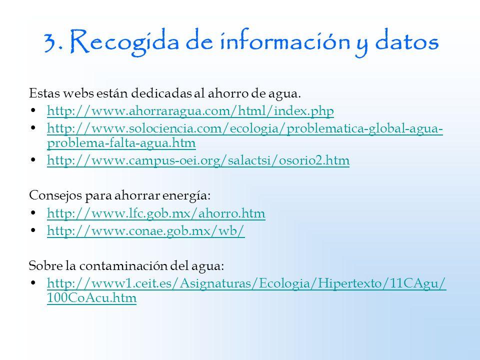 3. Recogida de información y datos