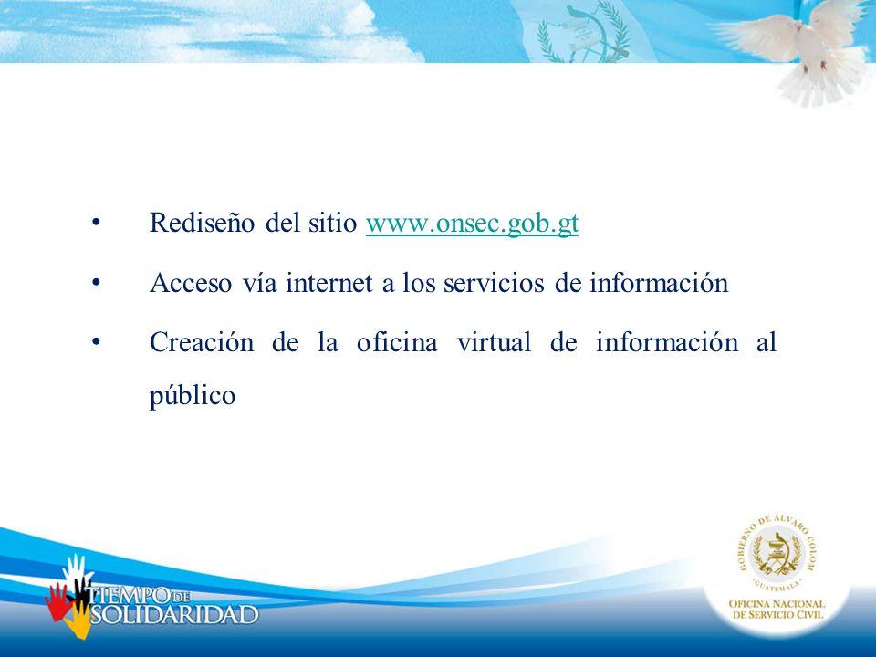 Rediseño del sitio www.onsec.gob.gt