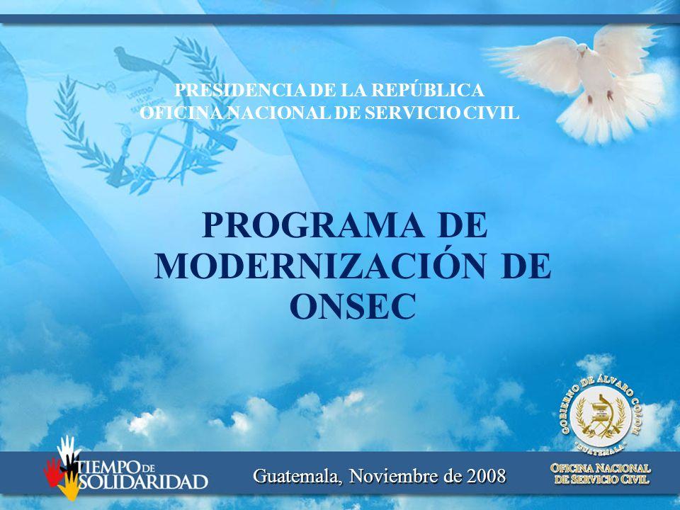 PROGRAMA DE MODERNIZACIÓN DE ONSEC