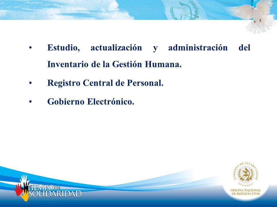 Estudio, actualización y administración del Inventario de la Gestión Humana.