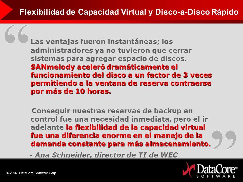 Flexibilidad de Capacidad Virtual y Disco-a-Disco Rápido