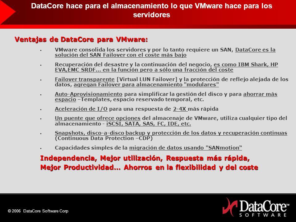 DataCore hace para el almacenamiento lo que VMware hace para los servidores