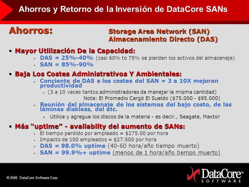 Ahorros: Storage Area Network (SAN)