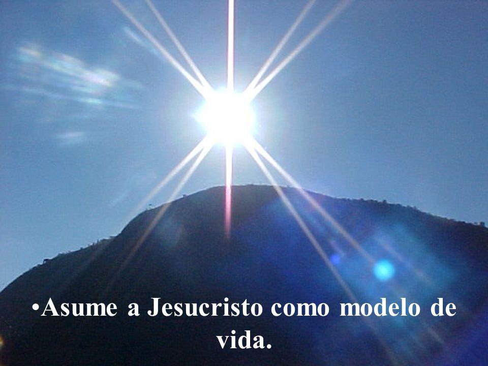 Asume a Jesucristo como modelo de vida.