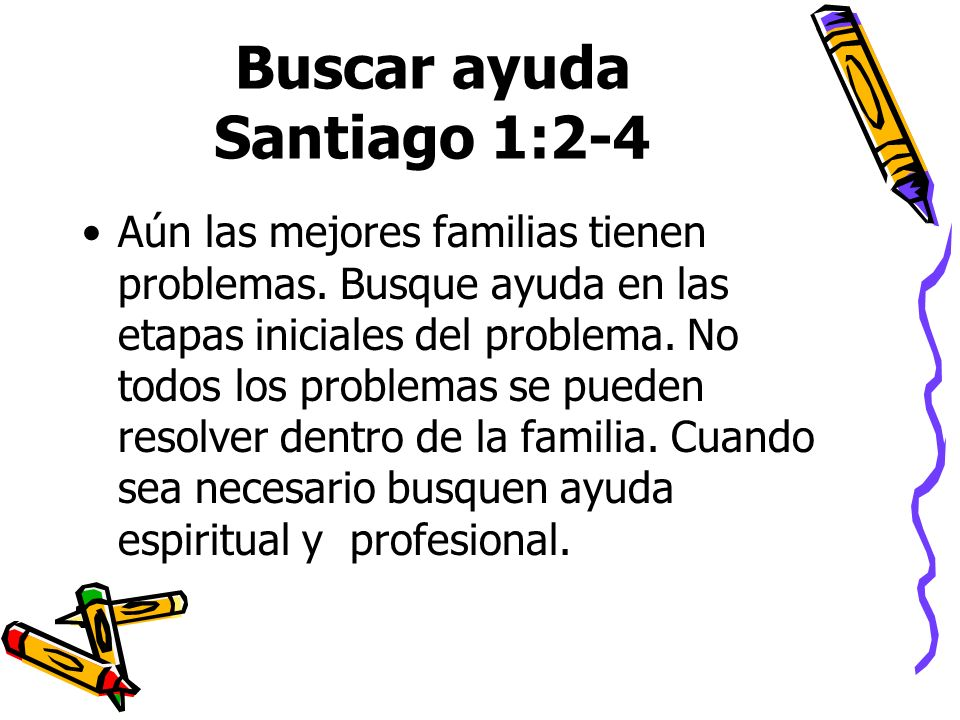 Buscar ayuda Santiago 1:2-4