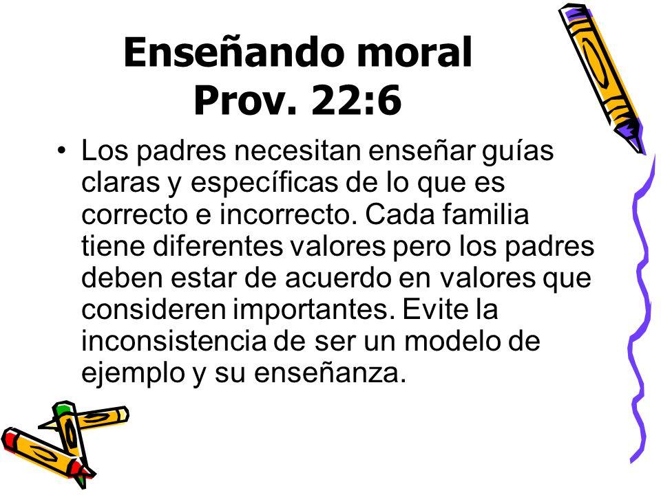 Enseñando moral Prov. 22:6