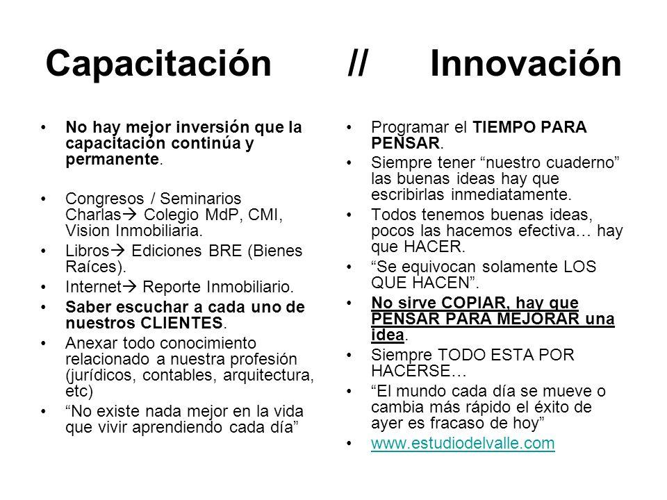 Capacitación // Innovación