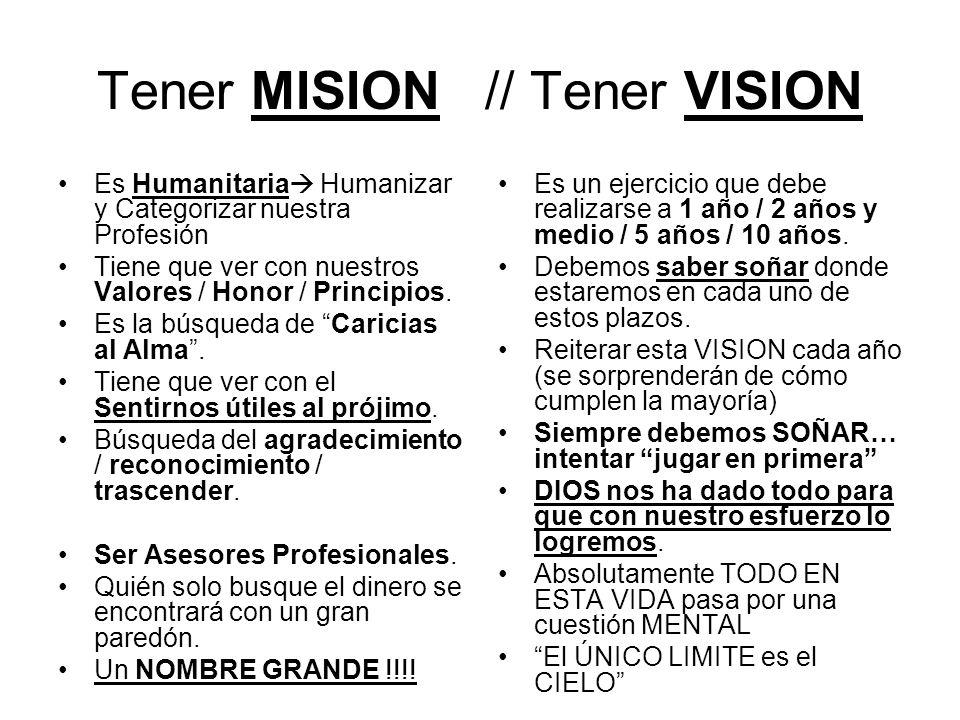 Tener MISION // Tener VISION