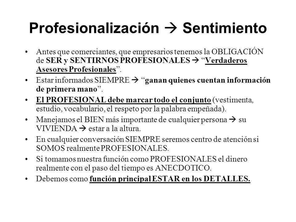 Profesionalización  Sentimiento