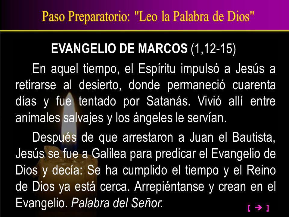 Paso Preparatorio: Leo la Palabra de Dios