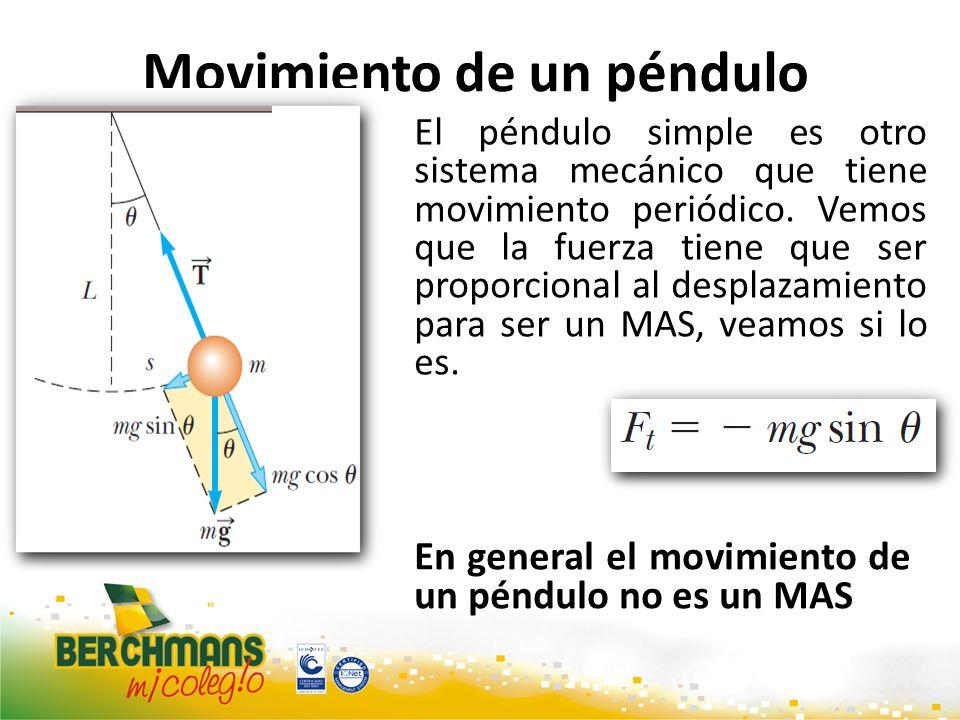 Movimiento de un péndulo