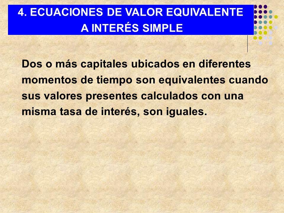 4. ECUACIONES DE VALOR EQUIVALENTE