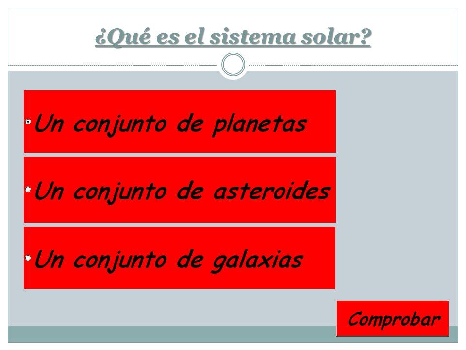 ¿Qué es el sistema solar