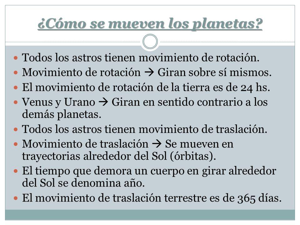 ¿Cómo se mueven los planetas