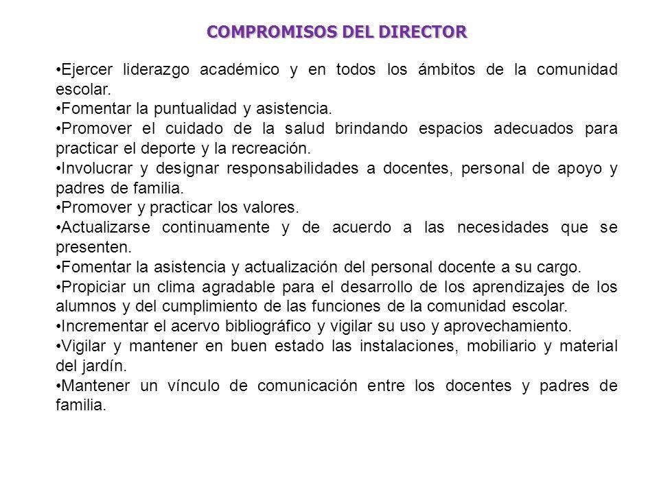 COMPROMISOS DEL DIRECTOR